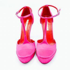 Stella McCartney Satin T-Strap Stiletto Heel, 6.5